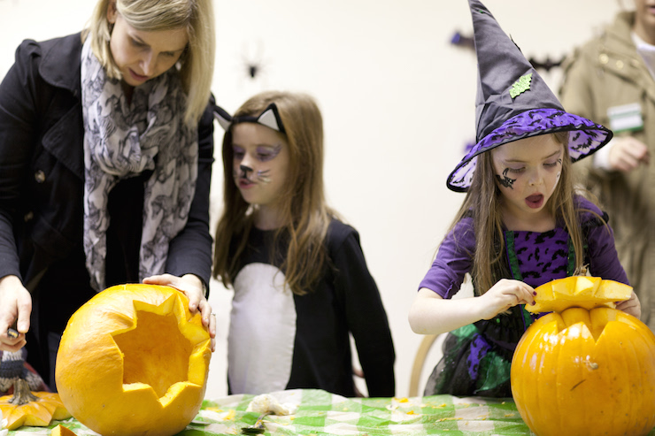 Children at a Halloween event at Hughenden, Buckinghamshire. Image courtesy of National Trust