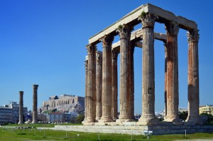 Temple of Zeus, Acropolis. Image courtesy of Marketing Greece