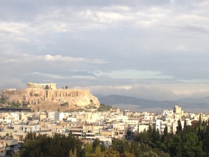 View of the Acropolis from our HouseTrip apartment. Copyright Gretta Schifano