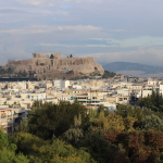 View of the Acropolis from the apartment we stayed in. Copyright Gretta Schifano
