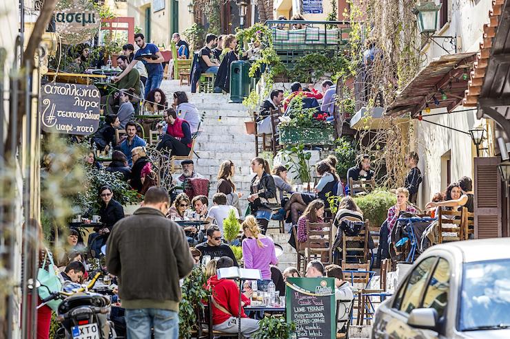 Plaka, Athens. Shutterstock image courtesy of DiscoverGreece.com