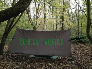 Hammock shelter, Jack Raven bushcraft with writing. Copyright Gretta Schifano