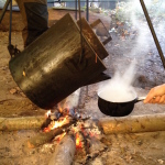 Hot water, Jack Raven Bushcraft. Copyright Gretta Schifano