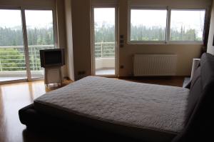 Main bedroom, Athens Housetrip apartment. Copyright Gretta Schifano