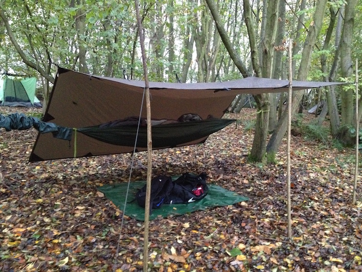 Bushcraft: sleeping in a hammock