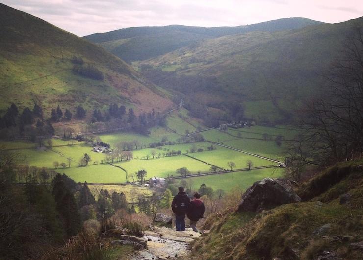 Walking down Cadair Idris, Wales. Copyright Gretta Schifano