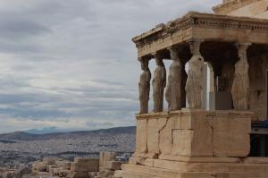 Caryatids, Athens. Copyright Gretta Schifano