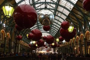 Covent Garden Christmas decorations. Copyright Gretta Schifano