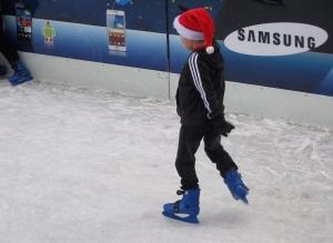 Ice skating at Winter Wonderland, Hyde Park. Copyright Gretta Schifano