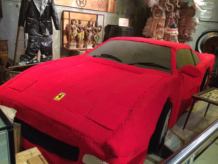 Knitted Ferrari, Ripley's Beleive It or Not. Copyright Gretta Schifano