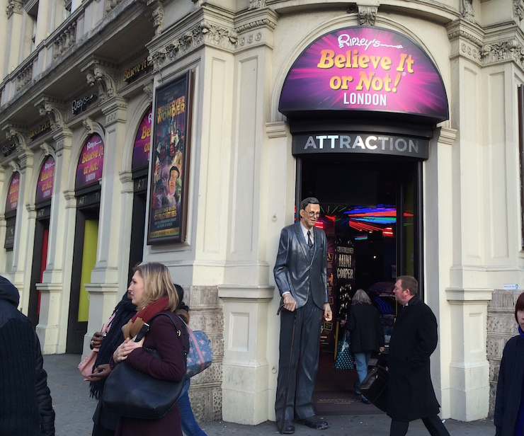 Photo of the outside of Ripley's Believe It or Not, London. Copyright Gretta Schifano