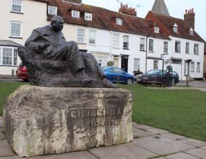 Churchill statue in Westerham. Copyright Gretta Schifano