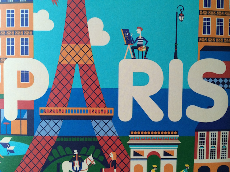Detail of Stickyscapes Paris cover
