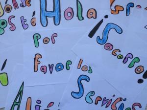 Spanish words. Copyright Gretta Schifano