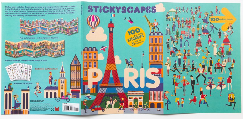 Stickyscape Paris. Image courtesy of Laurence King Publishing.