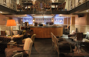 Great John Street Hotel bar with breakfast area above. Copyright Gretta Schifano