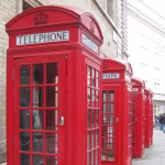 Red phone boxes, London. Copyright Gretta Schifano