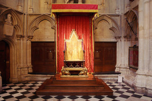 The Coronation Chair. Image courtesy of Andrew Dunsmore, Westminster Abbey