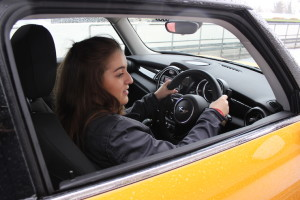 The start of the driving lesson at Goodwood. Copyright Gretta Schifano