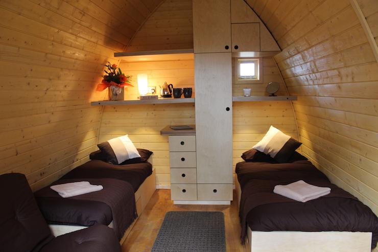 Port Lympne camping pod interior. Copyright Gretta Schifano