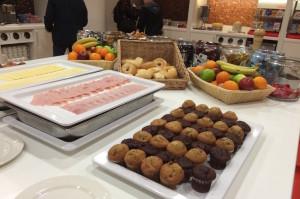 Breakfast at Gatwick Hampton by Hilton Hotel. Copyright Gretta Schifano