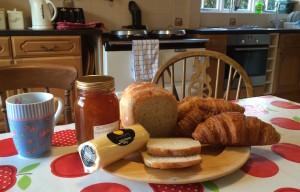 Breakfast at Slade Cottage. Copyright Gretta Schifano