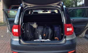 Car packed for journey. Copyright Gretta Schifano