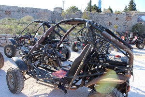 Dubrovnik Buggy Safaris vehicles. Copyright Gretta Schifano