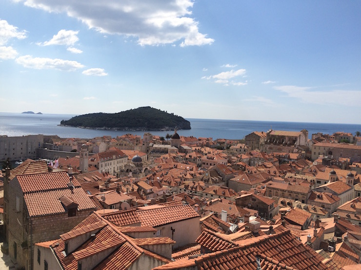Dubrovnik Old City and Lokrum island. Copyright Gretta Schifano
