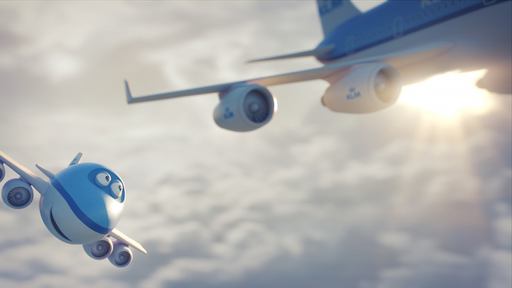 Bluey from KLM's 'Bluey the Movie'. Image courtesy of KLM.
