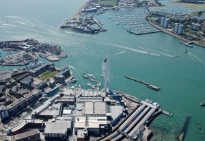 View of Portsmouth waterfront and Spinnaker Tower. Image courtesy of Tourism South East