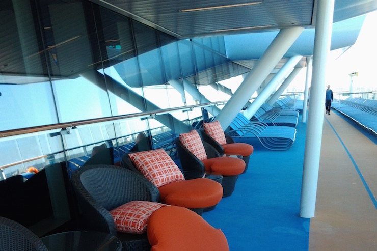 Anthem of the Seas deck. Copyright Lorenza Bacino