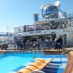 Anthem of the Seas pool. Copyright Lorenza Bacino