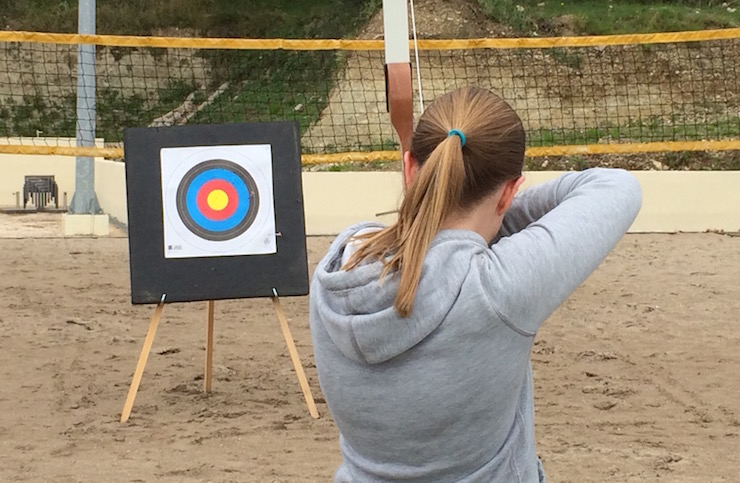 Archery at Dubrovnik Sun Gardens resort. Image copyright Gretta Schifano