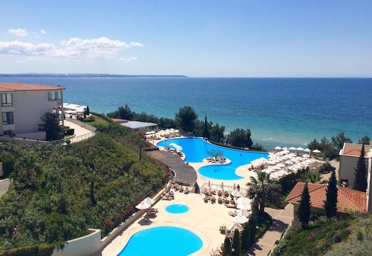 Main pools, Ikos Oceania. Copyright Gretta Schifano