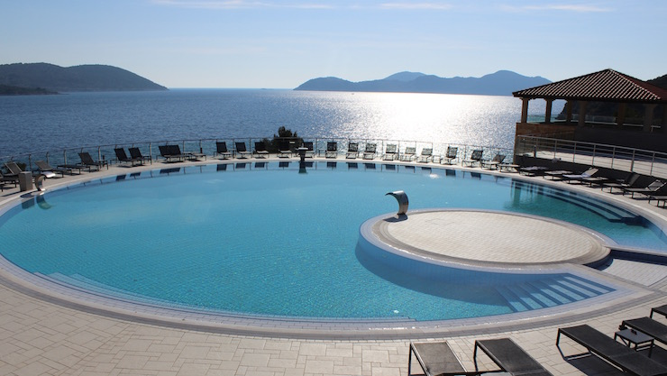 One of the pools at Dubrovnik Sun Gardens. Image copyright Gretta Schifano