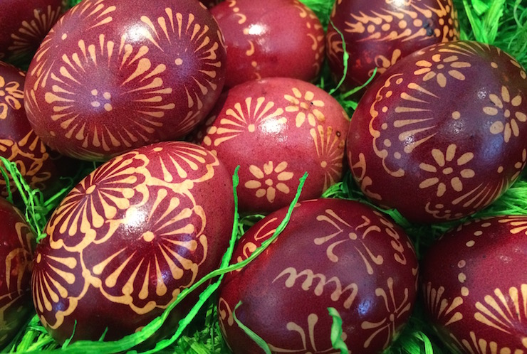 Painted Easter eggs, Dubrovnik Sun Gardens. Image copyright Gretta Schifano