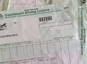 Counterpart Driving Licence. Image copyright Gretta Schifano