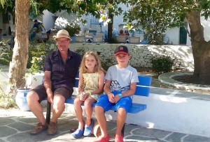 Lorenza's family in Chora, Greece. Copyright Lorenza Bacino