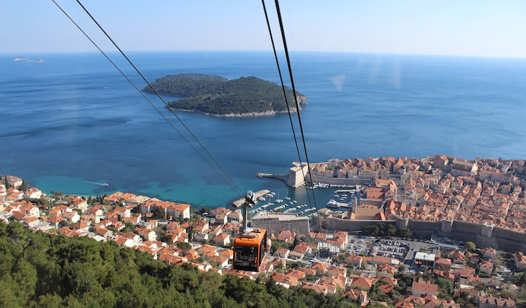 View from Dubrovnik cable car. Copyright Gretta Schifano