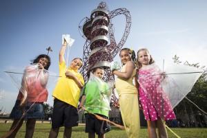 ArcelorMittal Orbit summer kids' activities. Image courtesy of ArcelorMittal Orbit