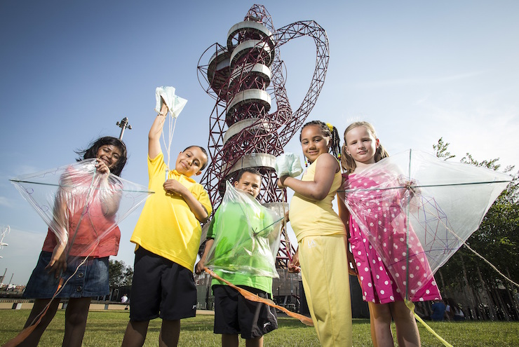 ArcelorMittal Orbit summer kids' activities. Image courtesy of ArcelorMittal Orbit