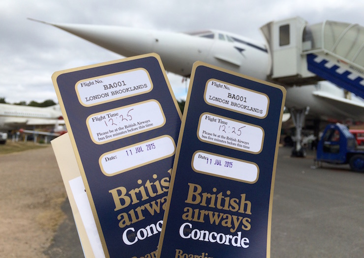 Concorde boarding passes, Brooklands. Copyright Gretta Schifano