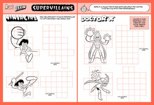 Pages from Superhero Comic Kit. Image courtesy of Laurence King Publishing.