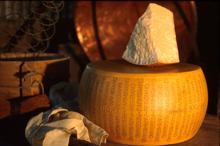Parmesan cheese. Image courtesy of Emiia-Romagna tourism