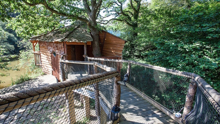Tree house, Deer Park, Corwnwall. Image courtesy of Forest Holidays