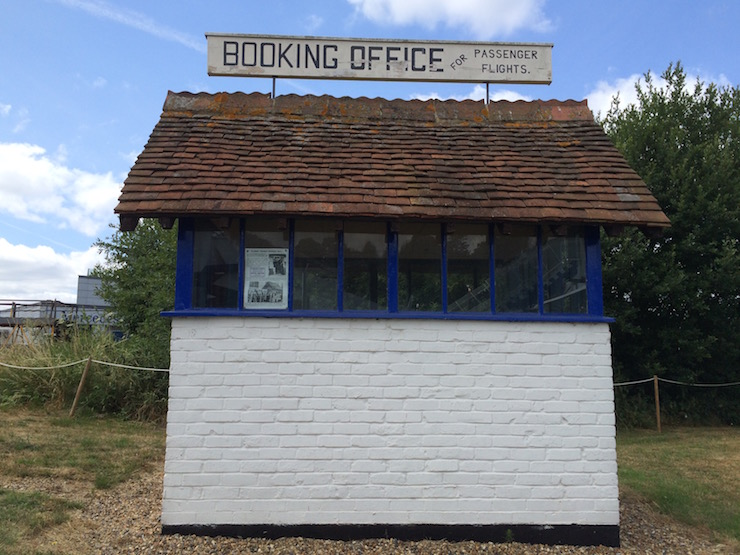 World's first flight ticket office, Brooklands. Copyright Gretta Schifano