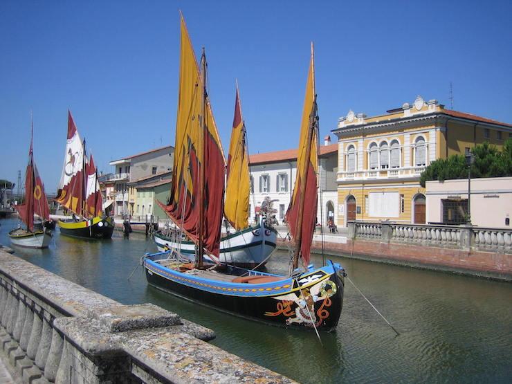 Historic harbour at Cesenatico. Copyright Barbaradel