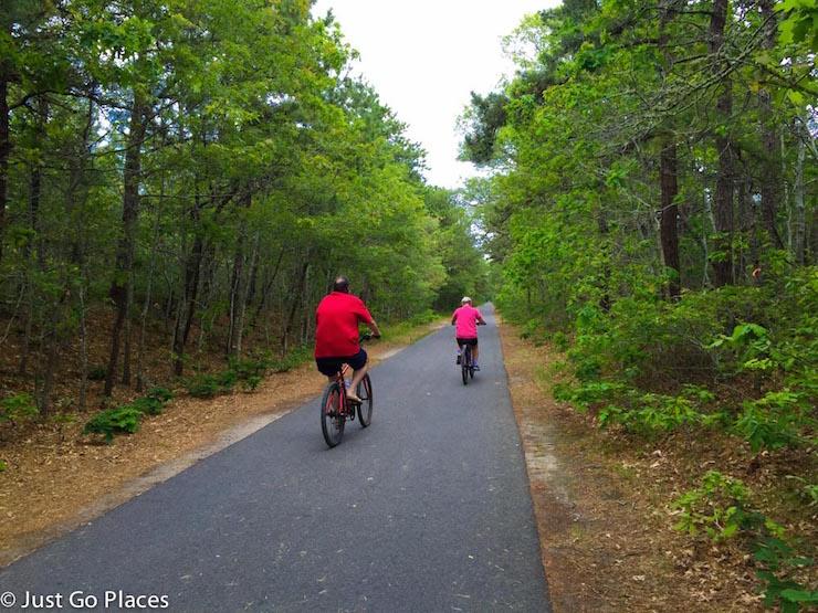 Cape Cod bike trail. Copyright Just Go Places