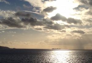 English Channel seen from a ferry. Copyright Gretta Schifano
